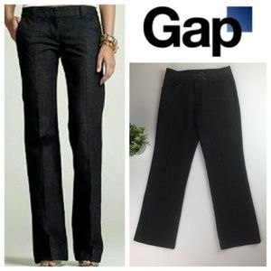 GAP Black Rinse Mid Rise Straight Leg Trouser Jean